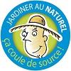 "Logo ""Jardiner au naturel, ça coule de source !"""