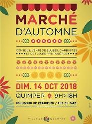 Affiche marché Automne Quimper
